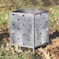 Incinerateur de jardin carré en acier galvanise - Paresene